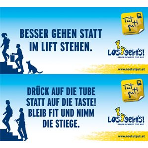 »Los geht's!« Sticker Set
